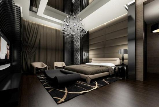 Amenajare in culori inchise dormitor modern