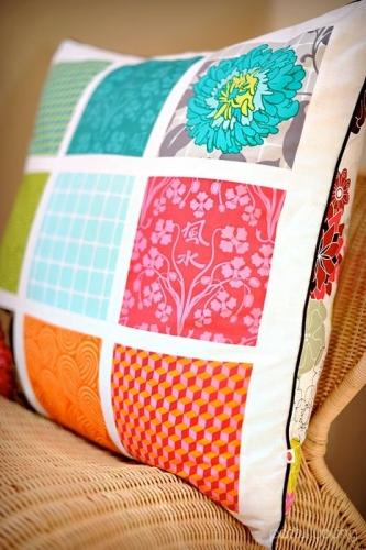 Perna decorativa pentru canapea patchwork