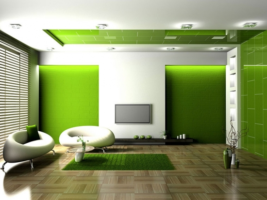 Decor verde living minimalist