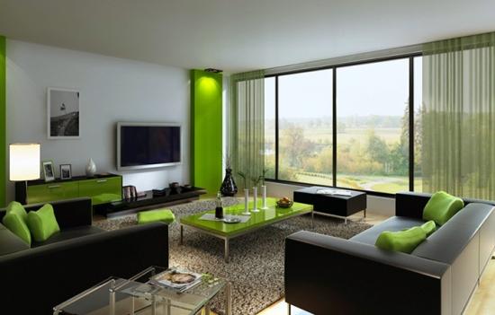 Decor verde living