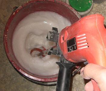 Amestecarea aracetului cu apa