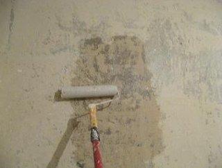Aplicare amorsa pe perete cu trafaletul