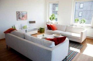 Decor simetric cu doua canapele