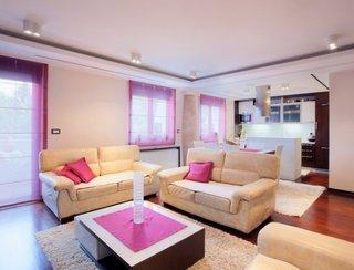 Living modern cu doua canapele