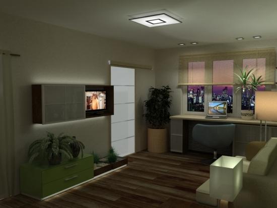 Idee de iluminare decorativa intr-un apartament