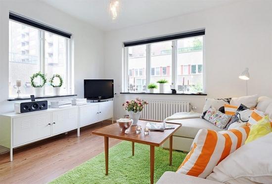 Culori placute in apartament mic