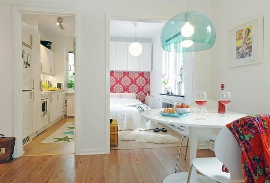 Interior de apartament mic modern