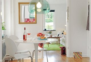 Masa rotunda pentru un interior mic
