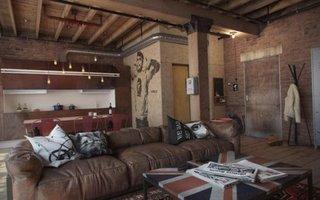 Apartament loft cu o camera amenajat modern