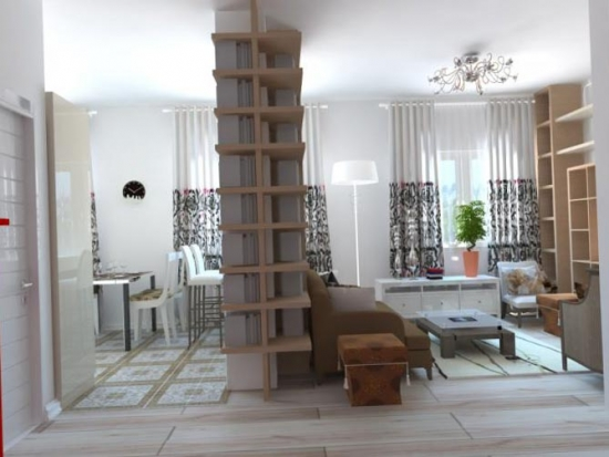 Apartament open space decorat modern