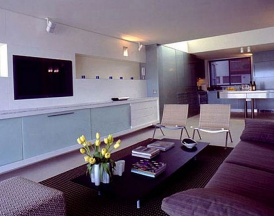 Compartimentare moderna a unui apartament studio