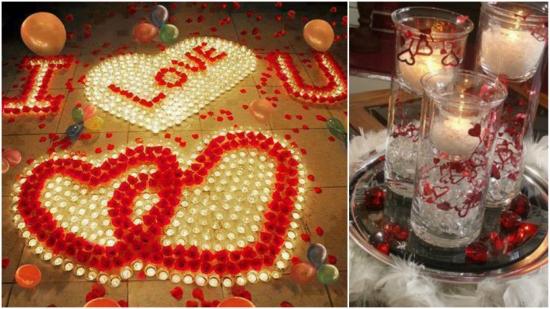 Sfantul Valentin: 15 imagini cu decoratiuni cu lumanari pentru o atmosfera romantica