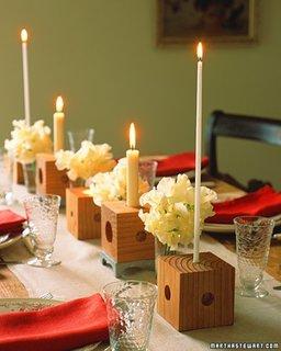 Decoratiune in stil eco lumari cu suport de lemn