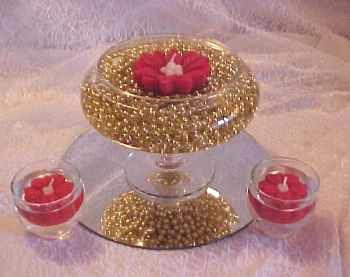Lumanari in forma de floare pentru un decor romantic de ziua indragotitilor