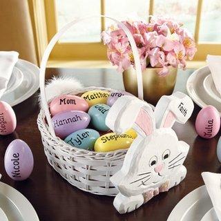 Cosulet cu oua de Pasti decorat special pentru copii