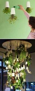 Candelabru cu plante si lumini