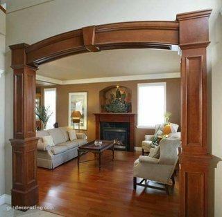 Arcada eleganta din lemn