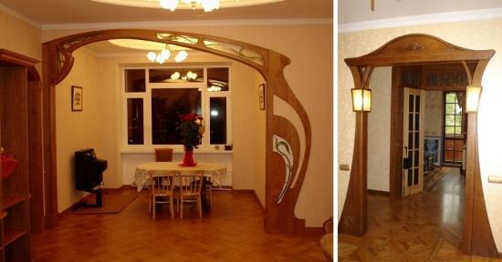 Modele de arcade imbracate in lemn