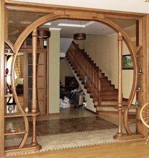 Arcada din lemn in stil rustic
