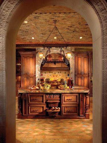 Design de bucatarie cu pereti arcada