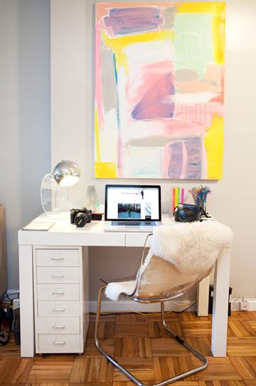 Arta vizuala abstracta pentru biroul mic de acasa
