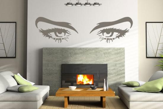 Idee decorare perete de deasupra semineului