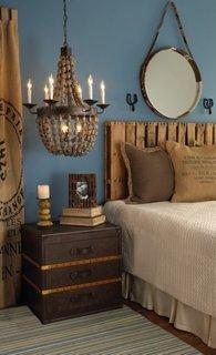 Dormitor amenajat in stil marin
