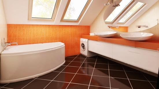 Idei de amenajare pentru o baie portocalie + GALERIE cu cele mai in trend modele