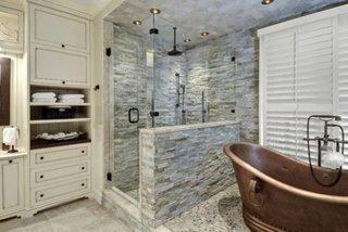 Amenajare baie cu piatra