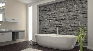 Zid baie decorat cu piatra