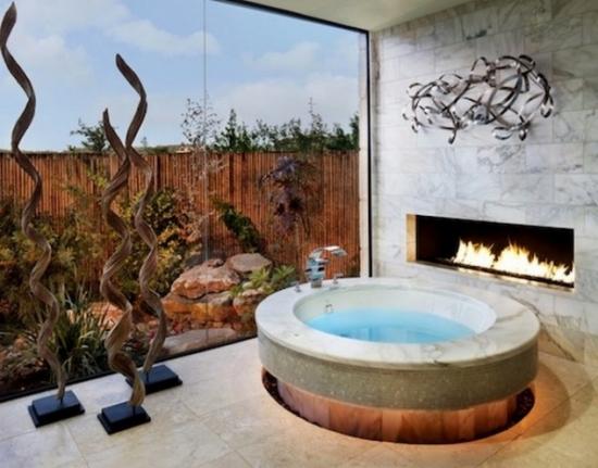 Semineu amenajat in baie