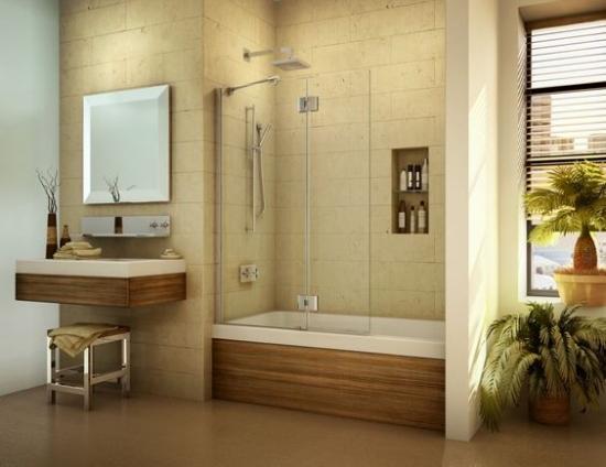 Model de baie moderna cu crem