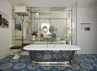 Pardoseala pentru baie in stil vintage