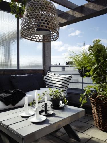 Lustra din paie pentru balcon sau terasa