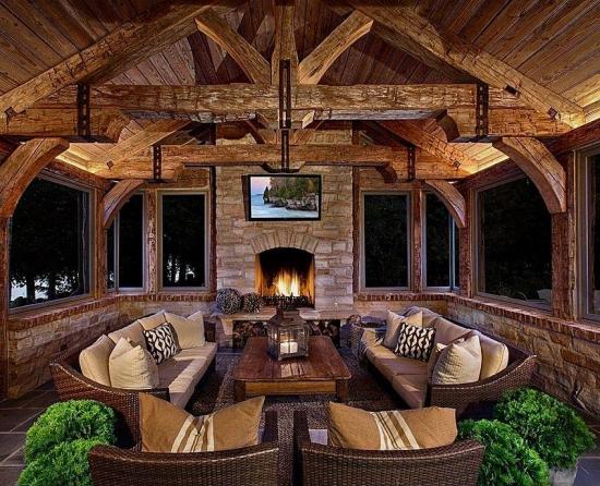 Cele mai frumoase idei de terase si balcoane rustice