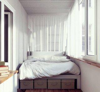 Balcon cu pat