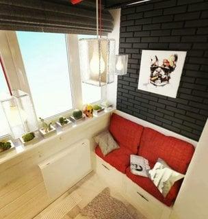 Camera prelungita pana in balcon