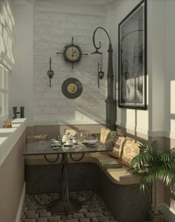 Masa si coltar pentru servit masa in balcon