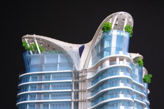 Concept apartamente de lux cu balcoane piscina