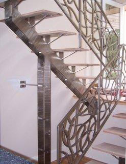 Scara de inox model de interior