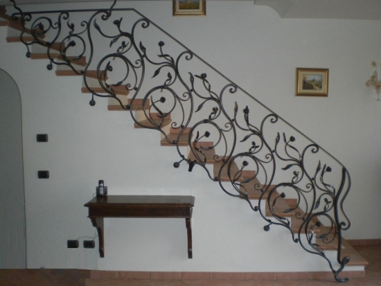 Balustrade interioare fier forjat model interesant