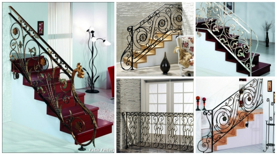 Modele balustrade din fier forjat pentru scara interioara. Inspira-te!