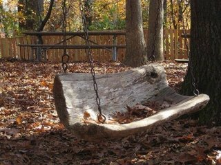 Balansoar de gradina suspendat cu lant