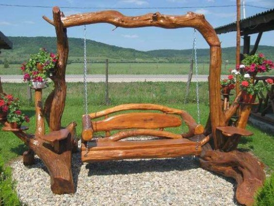 Leagan de gradina din lemn