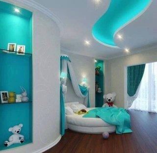 Camera copii cu spoturi led in tavan