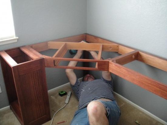 Amenajre birou din lemn