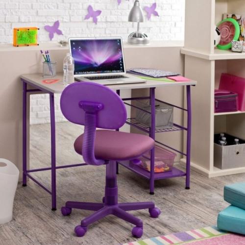 Masuta si scaun violet pentru copii