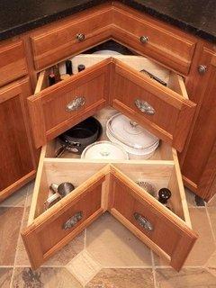Dulapuri pentru mobilier pe colt