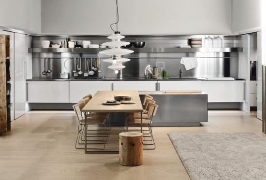 Bucatarie cu mobilier modern