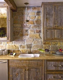 Design rustic de bucatarie